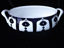 UNFINISHED ROYAL CROWN DERBY OVAL TUREEN NO LID DENSE BLUE WHITE 1128 9.75""